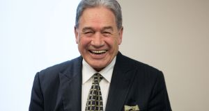 New Zealand's Minister of Foreign Affairs Rt Hon Winston Peters. Photograph: Tom Honan/The Irish Times.