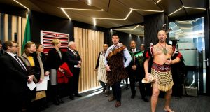 A traditional Maori  blessing was held to mark the opening of the New Zealand embassy in Dublin. Photograph: Tom Honan/The Irish Times.