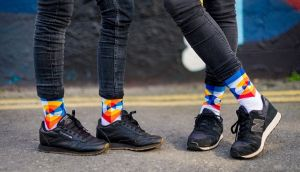 Irish Socksciety has teamed up with artist Shane O'Malley for its new range