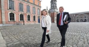 Sgt Maurice McCabe and his wife, Lorraine, arrive at the Disclosures Tribunal  at Dublin Castle in May 2018. File photograph: Niall Carson/PA