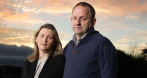 Garda whistleblower: Maurice McCabe with his wife, Lorraine. Photograph: Barry Cronin