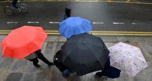 Rainfall is expected to be heaviest on high ground and mountains File photograph: Dara Mac Dónaill/The Irish Times