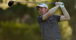 Gavin Moynihan of Ireland hits a tee shot during European Tour Qualifying School Final Stage at Lumine Golf Club in Tarragona, Spain. Photo: Luke Walker/Getty Images