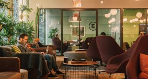 A WeWork common space in New York. Photograph: Cole Wilson/The New York Times
