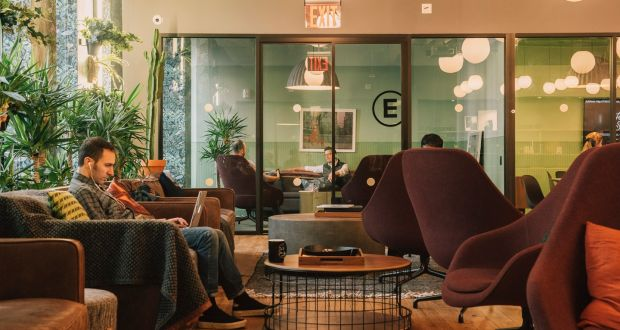 A WeWork Common Space In New York. Photograph: Cole Wilson/The New York