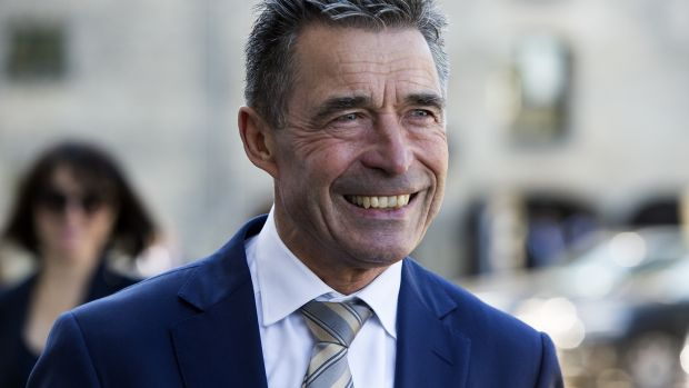 "Former Danish prime minister and former Nato general secretary Anders Rasmussen: ""Since 2016 we saw interference in the Brexit campaign, in Catalonia, in Macedonia, in French and Italian elections."" Photograph: Ole Jensen/Corbis via Getty Images"