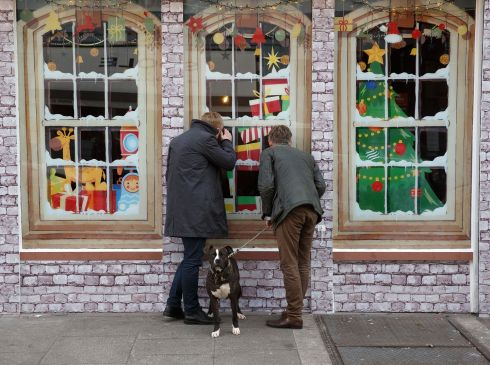 "Dogs Trust have taken over a shop front on South William street, Dublin, for the poignant campaign  ""How is that Doggie in the Window?"" to highlight the upsetting reality behind irresponsible dog breeding in Ireland. Photograph: Fran Veale"