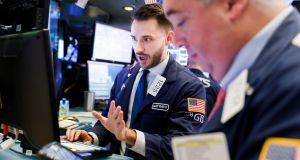Traders  on the floor of the New York Stock Exchange  on  November 13th, 2018. Photograph: EPA/Justin Lane