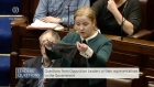 TD Ruth Coppinger shows thong during Dáil sitting