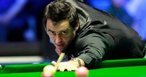 Ronnie O'Sullivan delivered three consecutive centuries to beat Soheil Vahedi at the Northern Ireland Open. Photograph: Getty Images