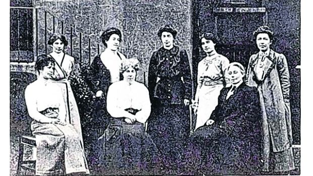 The Irish Women's Franchise League was an organisation for women's suffrage established in 1908 by Hanna Sheehy-Skeffington, Francis Sheehy-Skeffington and James H Cousins. Photograph: National Library of Ireland