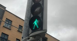 "A Green Party councillor wants the ""green man"" time extended at pedestrian crossings. Photograph: Dan Griffin"