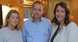 Vindicated: Maurice McCabe with his wife, Lorraine, and Katie Hannon of RTÉ in Whistleblower