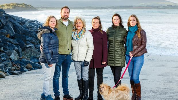 Aisling, John, Irene, Jennifer, Roslyn, and Maria Collins on Strandhill Beach in Sligo: the family has recommended to a jury on an inquest into the death of Karl Collins that suicide observation systems should be put in place where a previous suicide attempt had been made. Photograph James Connolly