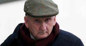 Former Terenure College, Dublin and UCD rugby coach John McClean (73) leaves the Dublin District Court on Wednesday after he was charged with more than 30 counts of indecently assaulting schoolboys at Terenure College over a 17 year period. Photograph: Collins Courts