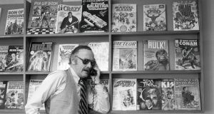Excelsior! Stan Lee, the Marvel Comics maestro and co-creator of Spider-Man, X-Men and Black Panther, in 1980. Lee died on Monday aged 95. Photograph: William E. Sauro/The New York Times