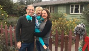 "James Claffey, his wife Maureen and their daughter Maisie, at their home in Carpinteria, California: ""One of my daughter Maisie's classmates lost her half-brother in the shootings."""