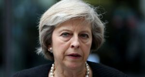 Theresa May, like Michael Collins, was given an impossible negotiating task. Photograph: Philip Toscano/PA Wire
