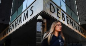 Debenhams shares sank 21 per cent in London, their biggest ever one-day fall, after a Drapers report said some high street suppliers have stopped working with the department store chain.