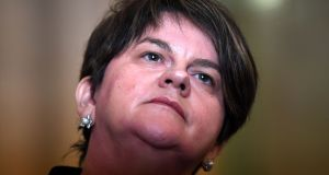 "Arlene Foster: ""There were solutions out there but unfortunately that was not the attitude that came from either the Irish Government or the European Union."" Photograph: Clodagh Kilcoyne/Reuters"
