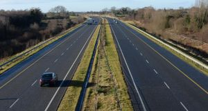 A man in his 80s has died following a single-vehicle crash on the M8.  File photograph: Brenda Fitzsimons/The Irish Times