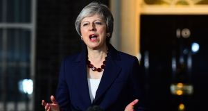 UK prime minister Theresa May is still up against it. Photograph: Victoria Jones/PA Wire