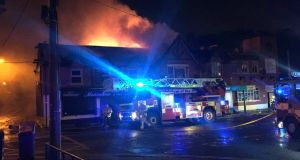 Fire in Finglas village. Photograph: Dublin Fire Brigade