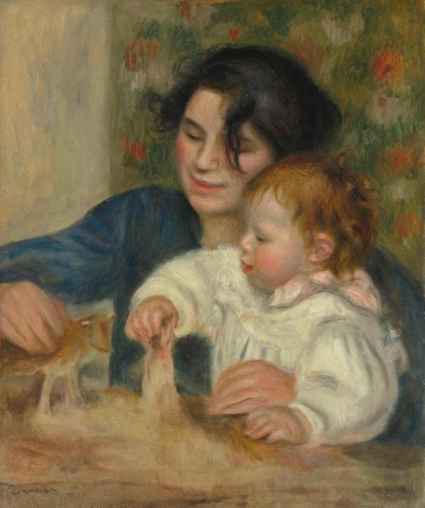 Father and son: Pierre-Auguste Renoir's painting Gabrielle and Jean, from 1895. Courtesy Musée de l'Orangerie
