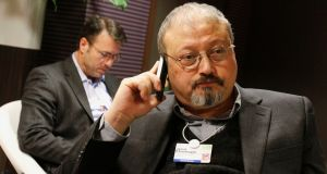 Saudi journalist Jamal Khashoggi. Photograph: Virginia Mayo/AP Photo