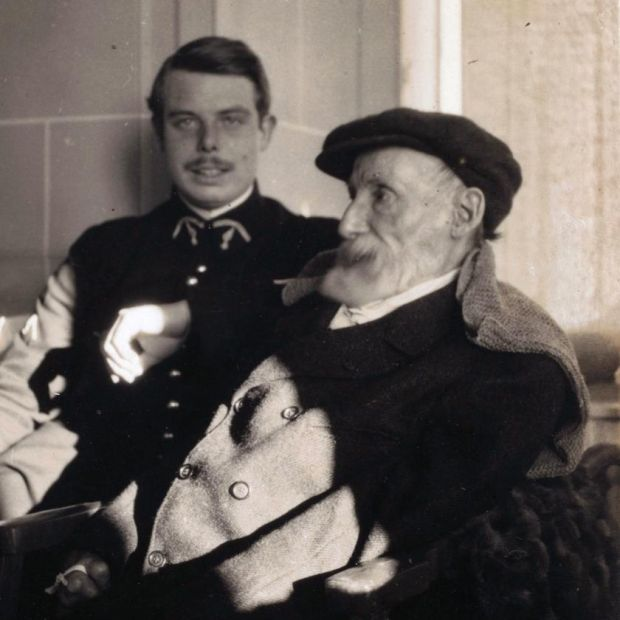 Son and father: Jean and Pierre-Auguste Renoir around 1916, photographed by Pierre Bonnard. Courtesy Musée d'Orsay