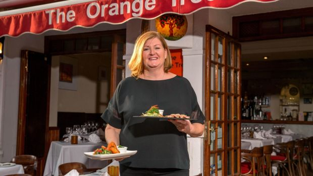 Irene Maher at her restaurant, The Orange Tree, in the Old Town of Marbella. Photograph: Solarpix.com