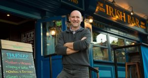 Gerry McGovern,  bar manager, The Claddagh Bar, Marbella. Photograph:  Solarpix.com