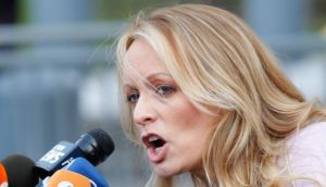 The  adult-film actress Stephanie Clifford, also known as Stormy Daniels. Photograph: AFP Photo/Eduardo Munoz Alvarez/Getty Images