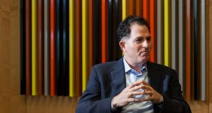 Michael Dell, founder of the Dell computer company, at the company's offices in Round Rock, Texas. Photograph: Ben Sklar/The New York Times