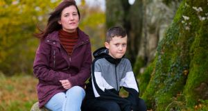 Trish Reilly Nolan pictured with her son, nine-year-old  Alex near their home in Athlone. Photograph: Tom O'Hanlon