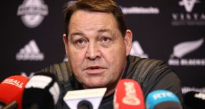 "New Zealand  coach Steve Hansen: ""He's pretty good, Joe, at finding a trick or two, so we'll be expecting one or two coming our way on Saturday."" Photograph: Phil Walter/Getty Images"