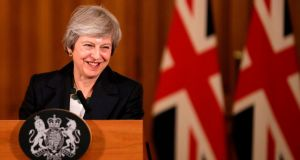 Britain's prime minister Theresa May battled against a rebellion over her draft Brexit deal on Thursday, as ministers resigned and members of her own party plotted to oust her. Photograph: AFP