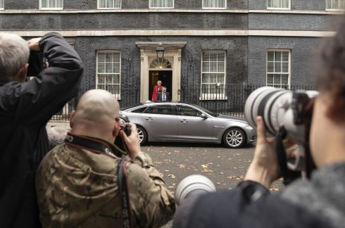 Theresa May leaves Downing Street on a pivotal day in the Brexit process. Photograph: Dan Kitwood/Getty Images