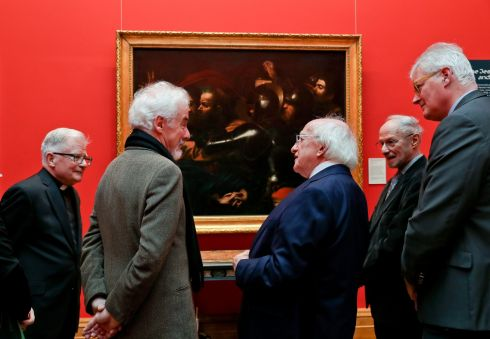 The National Gallery of Ireland marks the 25th anniversary of the unveiling of Caravaggio's The Taking of Christ. Photograph: Maxwells