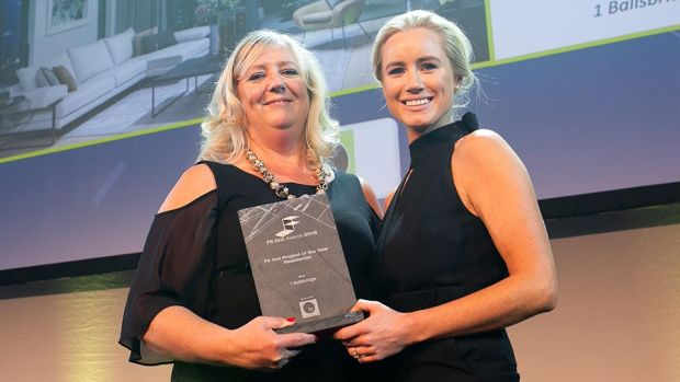 Angela Connolly, Creative Director & President, The Interiors Association presents Fit Out Project of the Year – Residential award to Lucy Rainey, LUCA Architecture