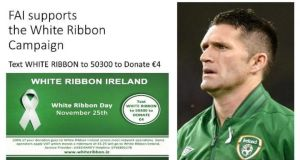 International Men's Day: the FAI, a White Ribbon ambassador, supports the campaign each year with a key match