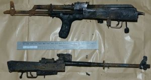 AK 47 assault riffles seized. Photograph: PSNI