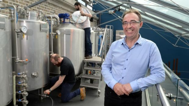 "Carlow Brewing Company founder Seamus O'Hara: ""It's still a fledgling industry."" Photograph: Dara Mac Dónaill"