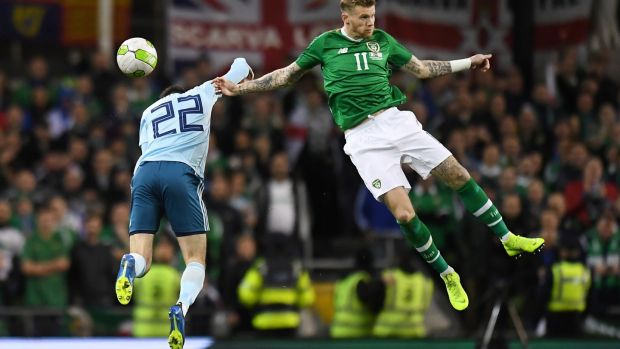 James McClean occupies a special place in Irish life and football. Photograph: Clodagh Kilcoyne/Reuters
