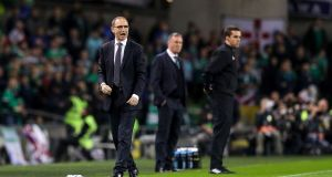 "Martin O'Neill: ""The bigger picture is the Euro qualifiers. There is no question about that."" Photograph: Ryan Byrne/Inpho"