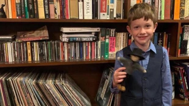 Beto O'Rourke posted a photograph on Instagram of his seven-year-old son Henry, who had just finished a project on his great-great-great-great-grandfather.