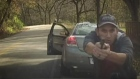 Dramatic shootout captured on police car dashecam