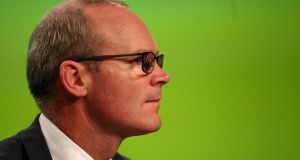 Tánaiste Simon Coveney  at the opening ceremony of the 79th Fine Gael Ardfheis. Photograph: Donall Farmer/The Irish Times