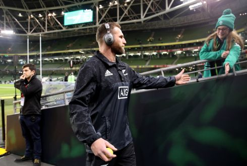 New Zealand's Kieran Read before the game. Photograph: Dan Sheridan/Inpho
