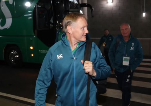 Ireland head coach Joe Schmidt arrives. Photograph: Billy Stickland/Inpho